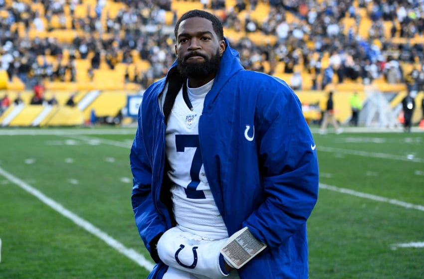 PITTSBURGH, PA - NOVEMBER 03: Jacoby Brissett #7 of the Indianapolis Colts walks off the field after being defeated by the Pittsburgh Steelers 26-24 during the game at Heinz Field on November 3, 2019 in Pittsburgh, Pennsylvania. (Photo by Justin Berl/Getty Images)