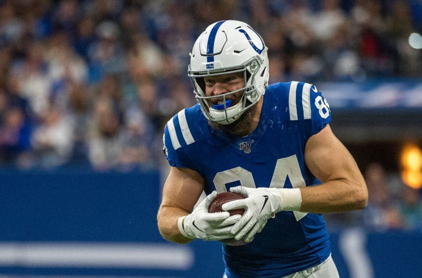 Jack Doyle is a versatile weapon for the Indianapolis Colts.(Photo by Bobby Ellis/Getty Images)