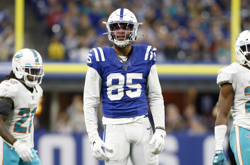 INDIANAPOLIS, INDIANA - NOVEMBER 10: Eric Ebron #85 of the Indianapolis Colts in action in the game against the Miami Dolphins at Lucas Oil Stadium on November 10, 2019 in Indianapolis, Indiana. (Photo by Justin Casterline/Getty Images)