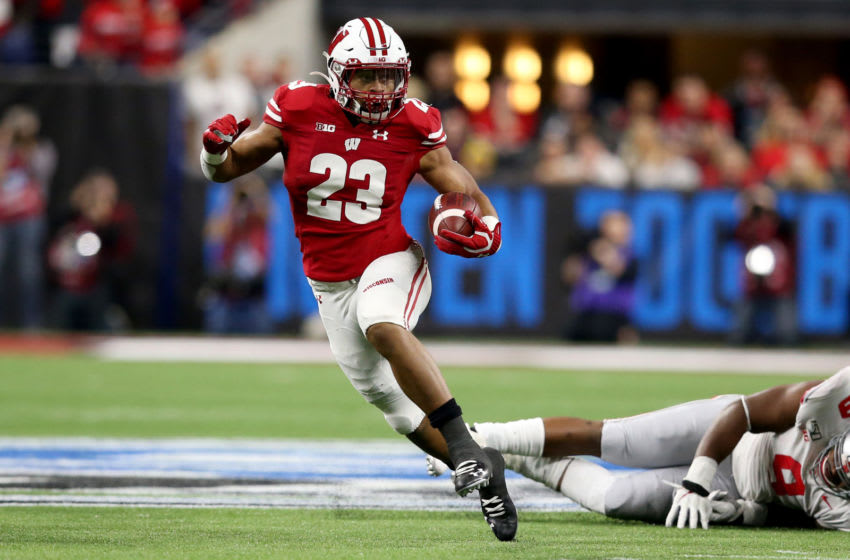Jonathan Taylor #23 of the Wisconsin Badgers (and now the Indianapolis Colts) (Photo by Justin Casterline/Getty Images)