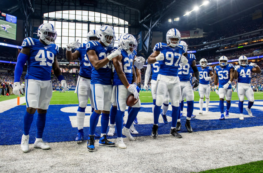 Members of the Indianapolis Colts defense (Photo by Bobby Ellis/Getty Images)