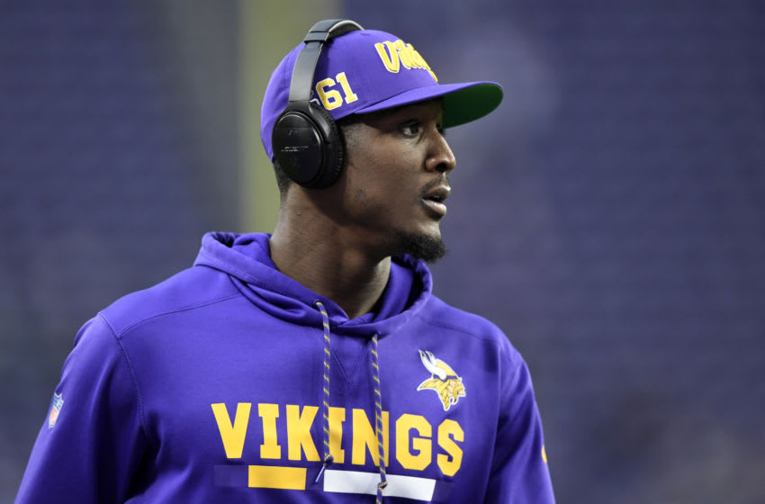 MINNEAPOLIS, MINNESOTA - DECEMBER 08: Minnesota Vikings cornerback Xavier Rhodes #29 warms up prior to the game against the Detroit Lions in the game at U.S. Bank Stadium on December 08, 2019 in Minneapolis, Minnesota. (Photo by Hannah Foslien/Getty Images)