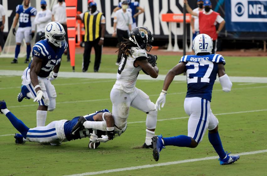 Jaguars WR Laviska Shenault Jr. (Photo by Sam Greenwood/Getty Images)