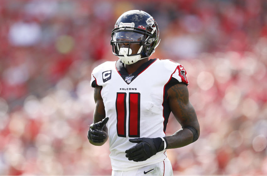 TAMPA, FLORIDA - DECEMBER 29: Julio Jones #11 of the Atlanta Falcons in action against the Tampa Bay Buccaneers at Raymond James Stadium on December 29, 2019 in Tampa, Florida. (Photo by Michael Reaves/Getty Images)