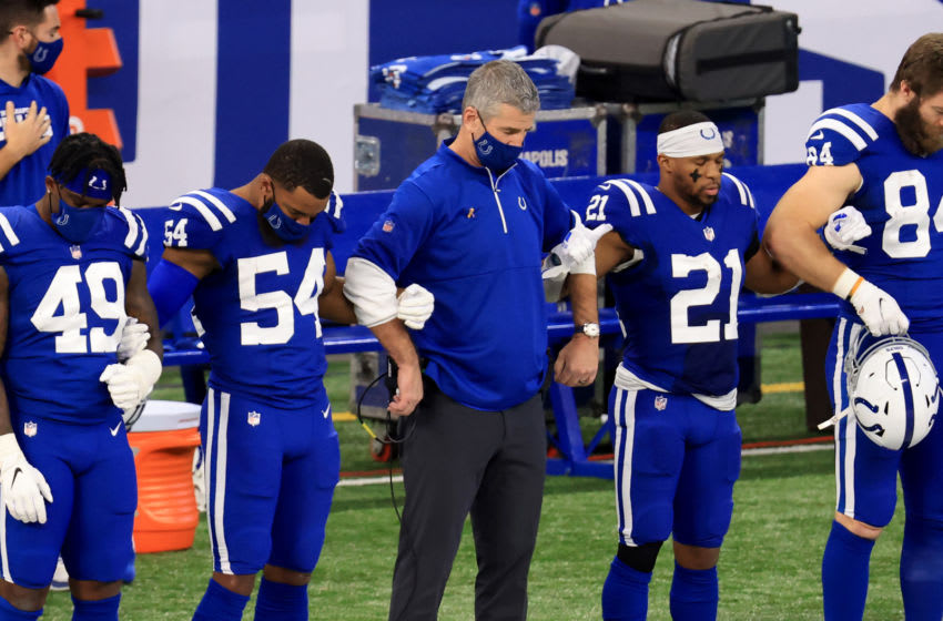 INDIANAPOLIS, INDIANA - DECEMBER 20: Head coach Frank Reich of the Indianapolis Colts (Photo by Justin Casterline/Getty Images)
