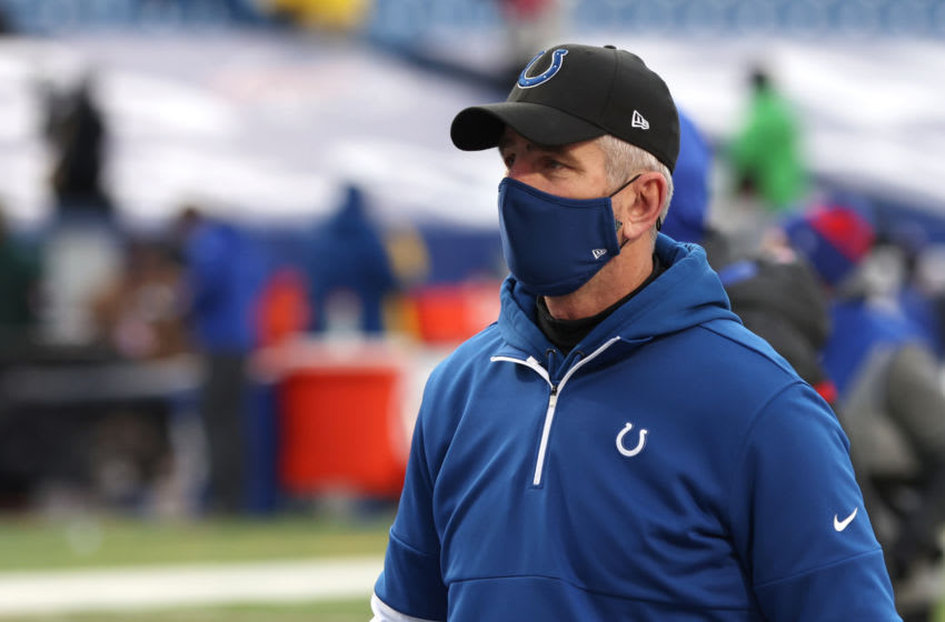 ORCHARD PARK, NY - JANUARY 09: Head coach Frank Reich of the Indianapolis Colts (Photo by Timothy T Ludwig/Getty Images)