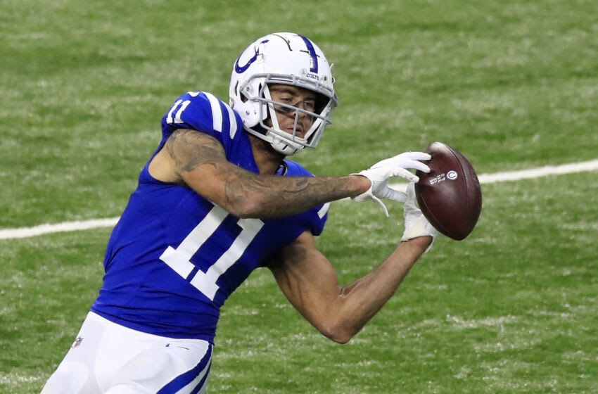 INDIANAPOLIS, INDIANA - NOVEMBER 29: Michael Pittman Jr. #11 of the Indianapolis Colts (Photo by Andy Lyons/Getty Images)