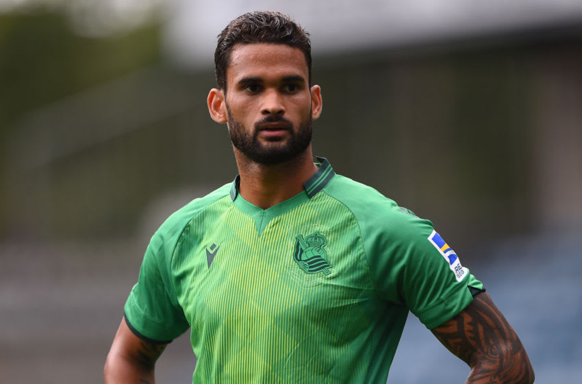 LONDON, ENGLAND - JULY 27: Willian Jose of Real Sociedad looks on during the Pre-Season Friendly between Millwall and Real Sociedad at The Den on July 27, 2019 in London, England. (Photo by Harriet Lander/Getty Images)