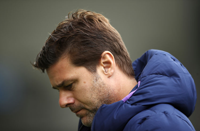 BRIGHTON, ENGLAND - OCTOBER 05: Mauricio Pochettino, Manager of Tottenham Hotspur reacts prior to the Premier League match between Brighton & Hove Albion and Tottenham Hotspur at American Express Community Stadium on October 05, 2019 in Brighton, United Kingdom. (Photo by Bryn Lennon/Getty Images)