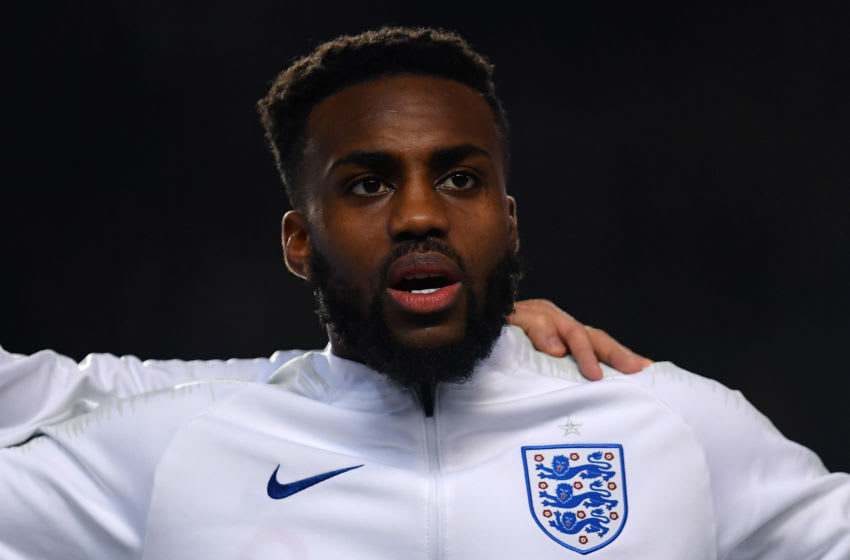 PRAGUE, CZECH REPUBLIC - OCTOBER 11: Danny Rose of England sings the national anthem during the UEFA Euro 2020 qualifier between Czech Republic and England at Sinobo Stadium on October 11, 2019 in Prague, Czech Republic. (Photo by Justin Setterfield/Getty Images)