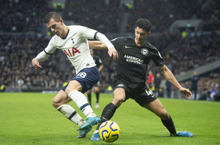LONDON, ENGLAND - DECEMBER 26: Giovani Lo Celso of Tottenham Hotspur and Steven Alzate of Brighton & Hove Albion (Photo by Visionhaus)