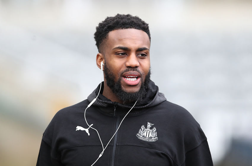 NEWCASTLE UPON TYNE, ENGLAND - FEBRUARY 01: New loan signing Danny Rose arrives prior to the Premier League match between Newcastle United and Norwich City at St. James Park on February 01, 2020 in Newcastle upon Tyne, United Kingdom. (Photo by Ian MacNicol/Getty Images)