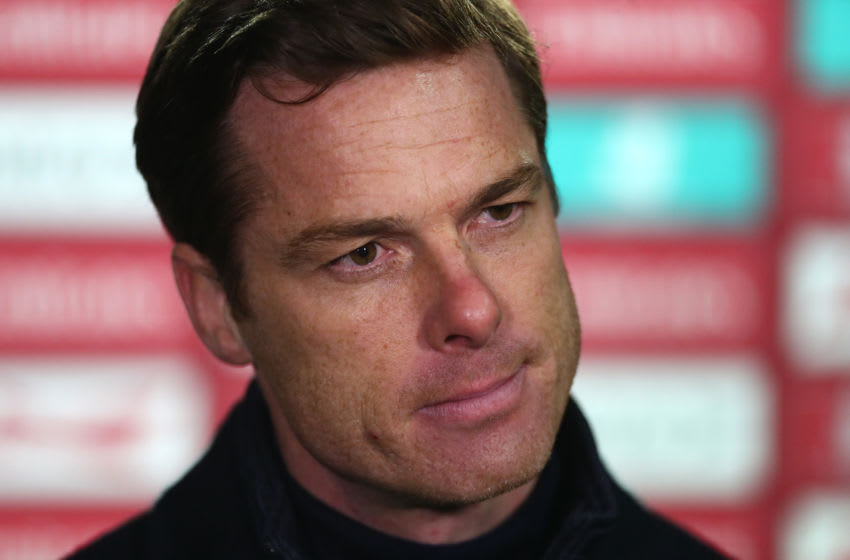 LONDON, ENGLAND - JANUARY 09: Scott Parker, Manager of Fulham is interviewed after the FA Cup Third Round match between Queens Park Rangers and Fulham at The Kiyan Prince Foundation Stadium on January 09, 2021 in London, England. The match will be played without fans, behind closed doors as a Covid-19 precaution. (Photo by Clive Rose/Getty Images)
