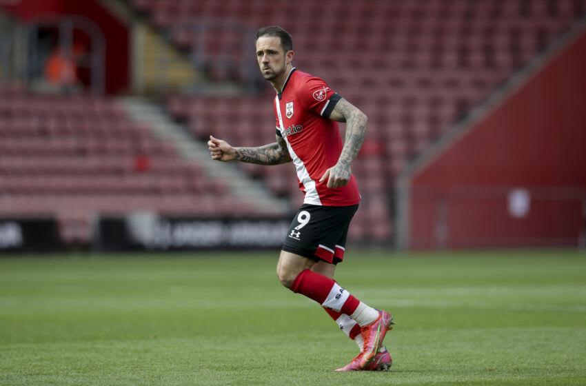 SOUTHAMPTON, ENGLAND - MAY 15: Danny Ings of Southampton during the Premier League match between Southampton and Fulham at St Mary's Stadium on May 15, 2021 in Southampton, England. (Photo by Robin Jones/Getty Images)