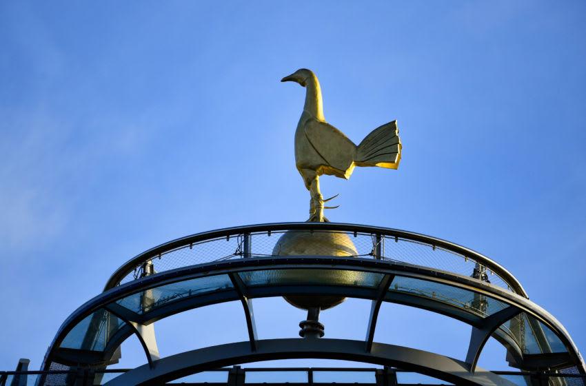 Oct 13, 2019; London, United Kingdom; the Gold Cockerel of Tottenham Hotspur. Mandatory Credit: Steve Flynn-USA TODAY Sports