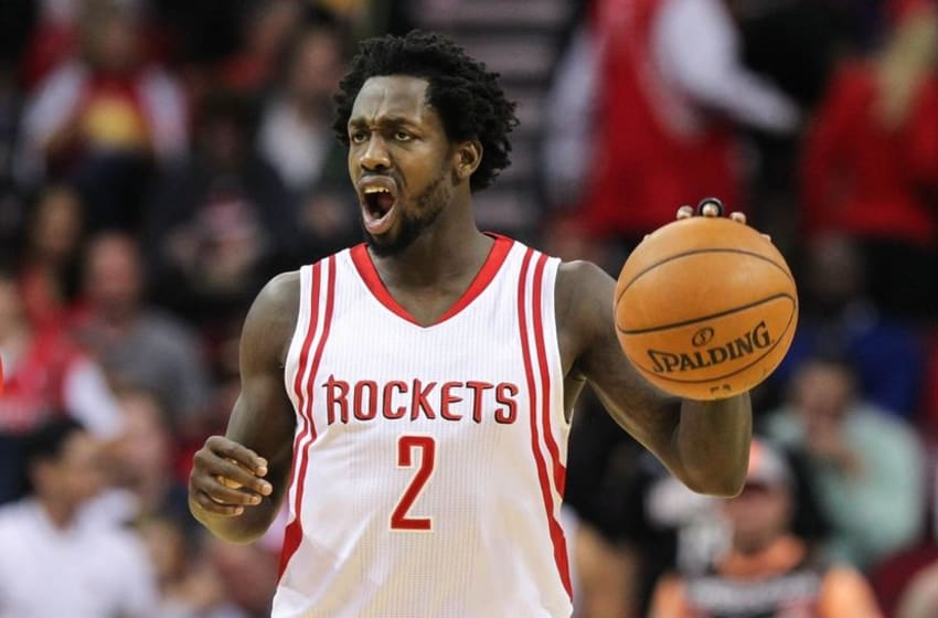Dec 12, 2015; Houston, TX, USA; Houston Rockets guard Patrick Beverley (2) brings the ball up the court during a game against the Los Angeles Lakers at Toyota Center. Mandatory Credit: Troy Taormina-USA TODAY Sports