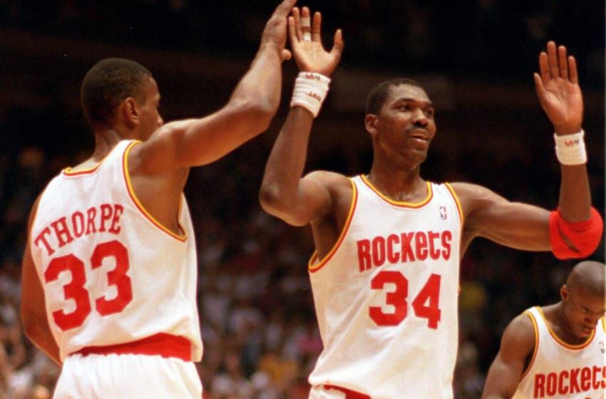 Legendary Houston Rockets center Hakeem Olajuwon