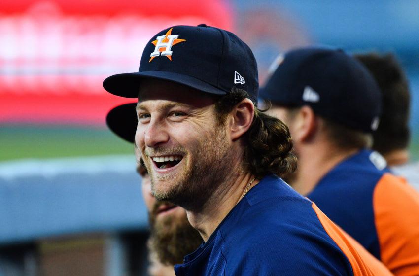 Free agent pitcher Gerrit Cole, formerly of the Houston Astros (Photo by Brian Rothmuller/Icon Sportswire via Getty Images)