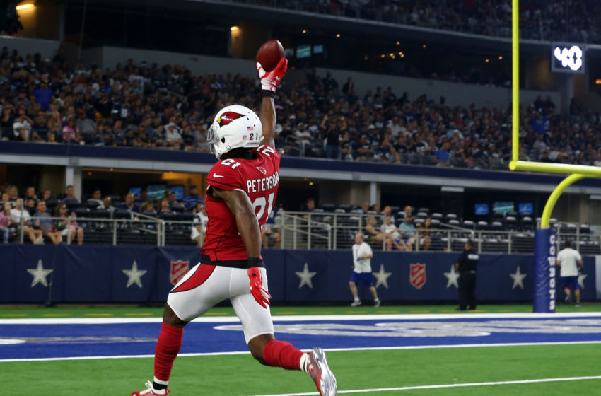 ARLINGTON, TX - AUGUST 26: Patrick Peterson #21 of the Arizona Cardinals (Photo by Richard Rodriguez/Getty Images)