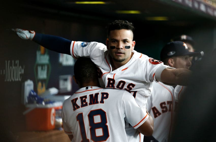 Jose Altuve of the Houston Astros (Photo by Bob Levey/Getty Images)