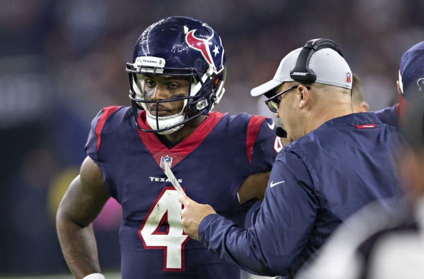 Houston Texans quarterback Deshaun Watson and head coach Bill O'Brien (Photo by Wesley Hitt/Getty Images)