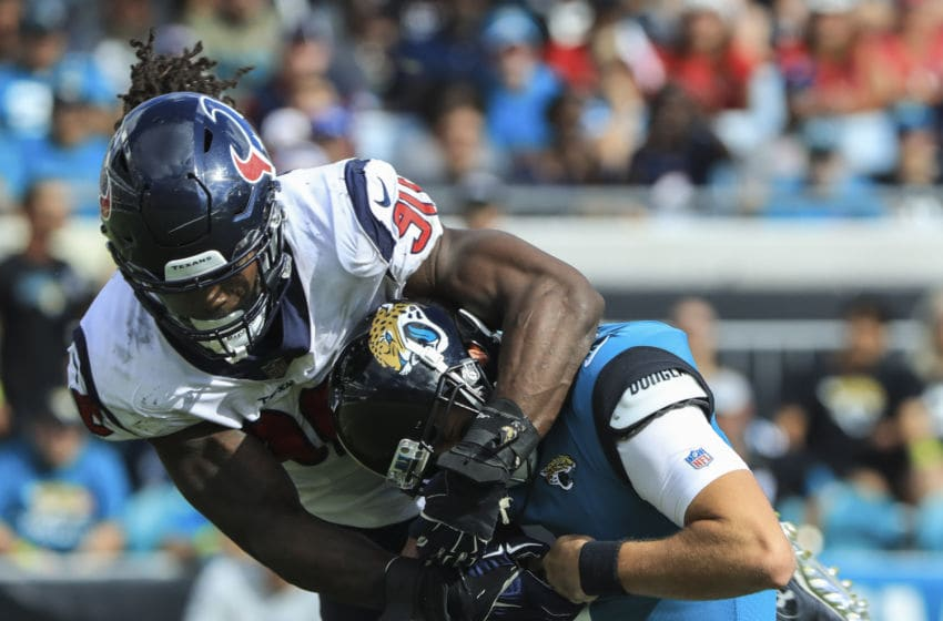 JACKSONVILLE, FL - OCTOBER 21: Jadeveon Clowney #90 of the Houston Texans (Photo by Sam Greenwood/Getty Images)