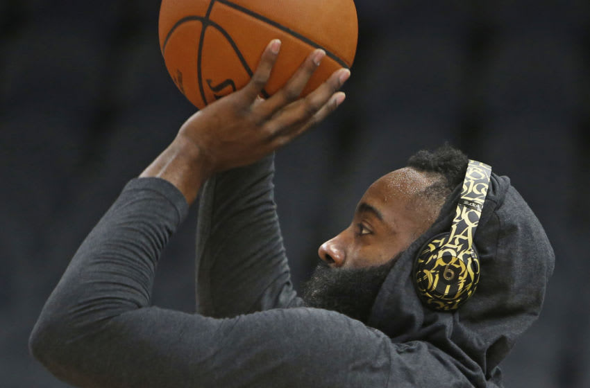 Houston Rockets guard James Harden (Photo by Ronald Cortes/Getty Images)