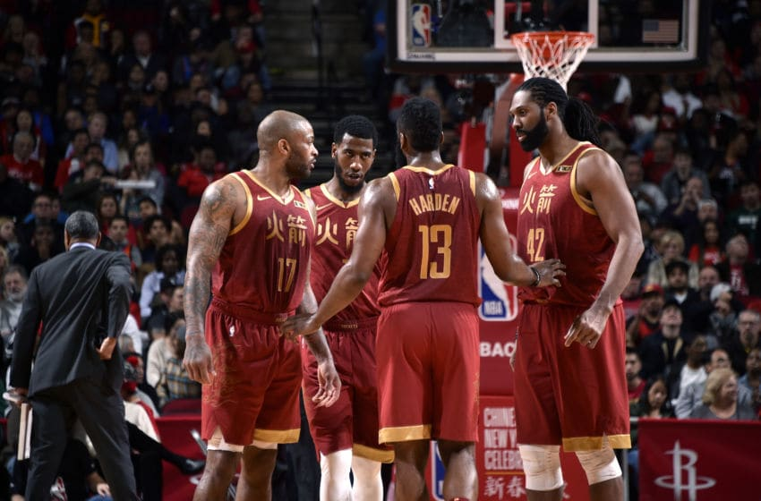 The Houston Rockets (Photo by Bill Baptist/NBAE via Getty Images)