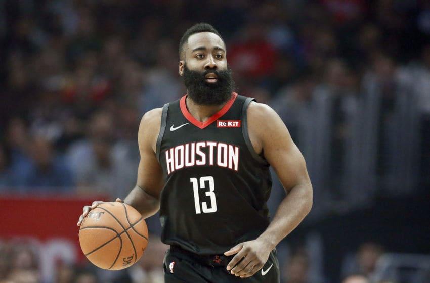 Houston Rockets guard James Harden (Photo by Chris Elise/NBAE via Getty Images)