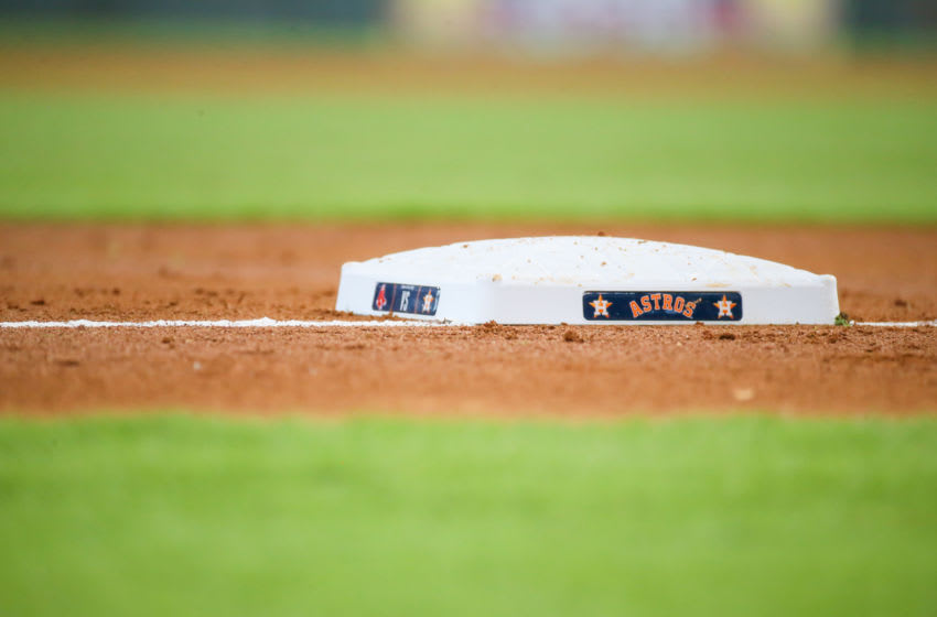 Houston Astros base (Photo by Leslie Plaza Johnson/Icon Sportswire via Getty Images)