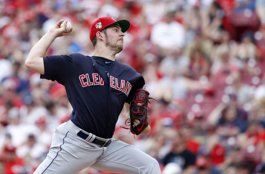 Cleveland Indians pitcher Trevor Bauer, a pitcher the Houston Astros are interested in. (Photo by Joe Robbins/Getty Images)