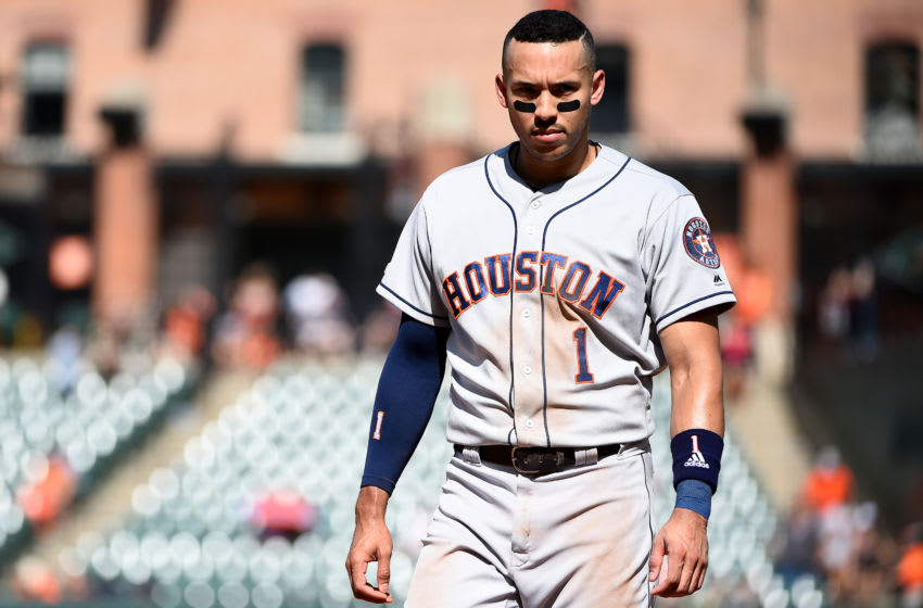 Houston Astros shortstop Carlos Correa (Photo by Will Newton/Getty Images)