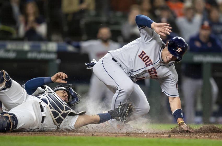 Houston Astros infielder Aledmys Diaz (Photo by Stephen Brashear/Getty Images)