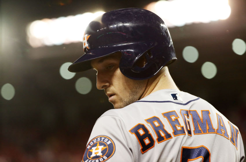 Houston Astros third baseman Alex Bregman (Photo by Patrick Smith/Getty Images)