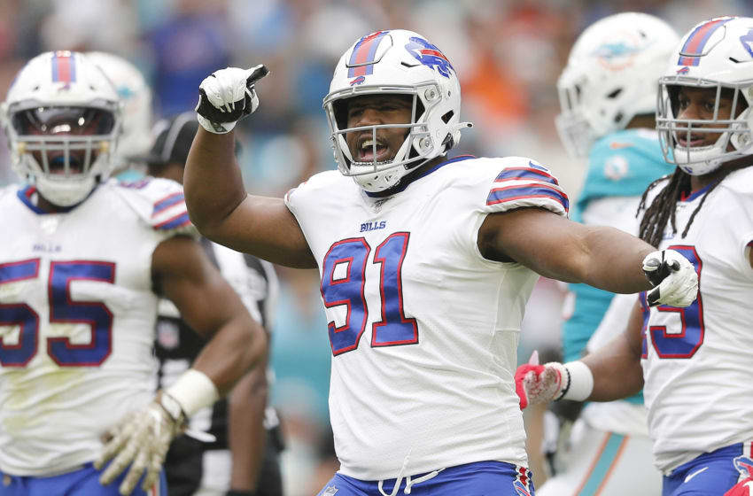 Buffalo Bills defensive end Ed Oliver, formerly of the Houston Cougars (Photo by Michael Reaves/Getty Images)