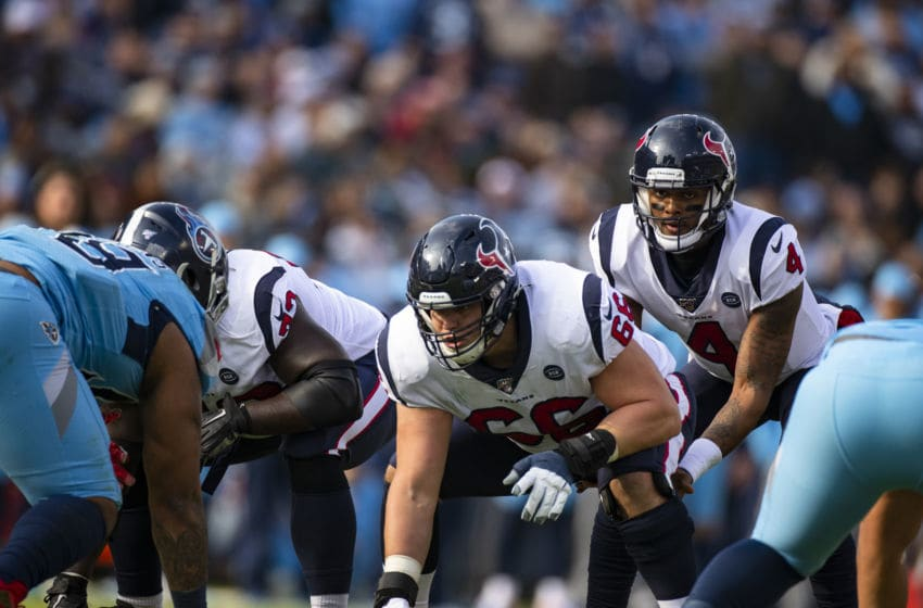 Houston Texans offensive line (Photo by Brett Carlsen/Getty Images)