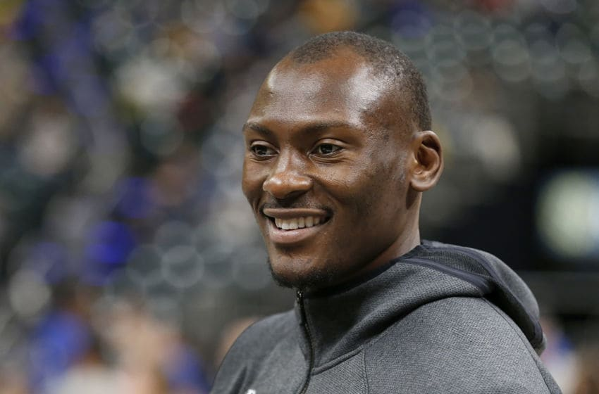 Charlotte Hornets center Bismack Biyombo, who should be targeted by the Houston Rockets (Photo by Justin Casterline/Getty Images)