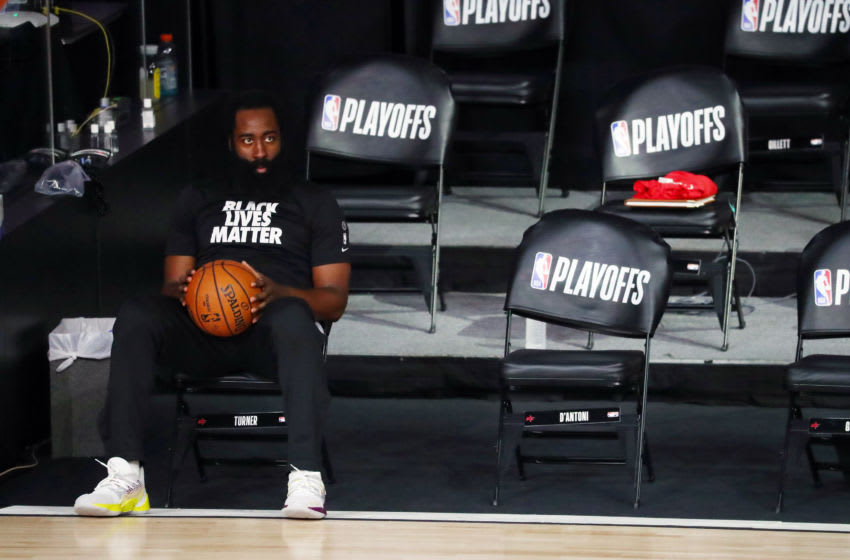 Houston Rockets guard James Harden (Photo by Kim Klement-Pool/Getty Images)