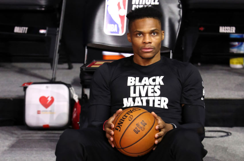 Houston Rockets guard Russell Westbrook (Photo by Mike Ehrmann/Getty Images)