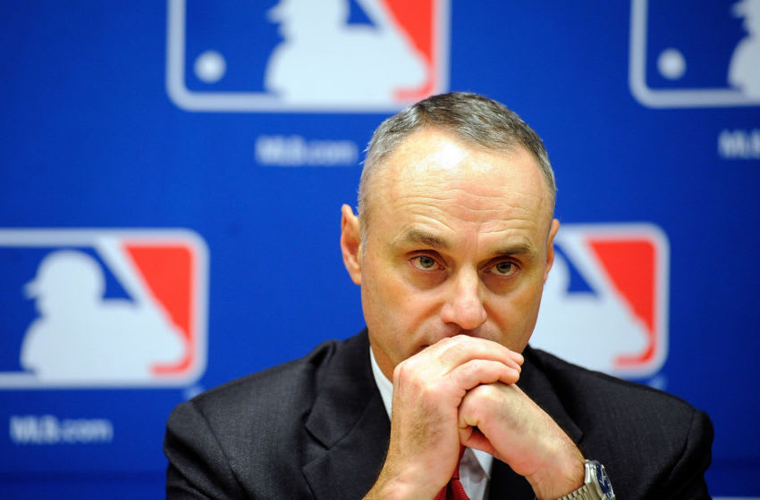 MLB Commissioner Rob Manfred | Houston Astros (Photo by Patrick McDermott/Getty Images)