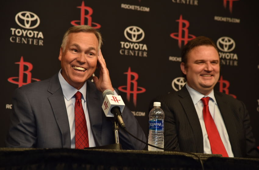 Houston Rockets GM Daryl Morey and Mike D'Antoni (Photo by Bill Baptist/NBAE via Getty Images)
