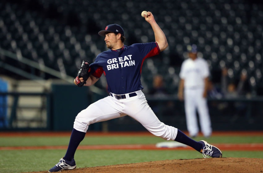 Houston Astros pitcher Blake Taylor (Photo by Alex Trautwig/MLB via Getty Images)