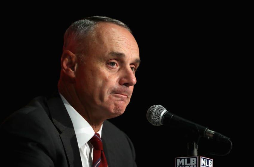MLB Commissioner Rob Manfred | Houston Astros (Photo by Tom Szczerbowski/Getty Images)