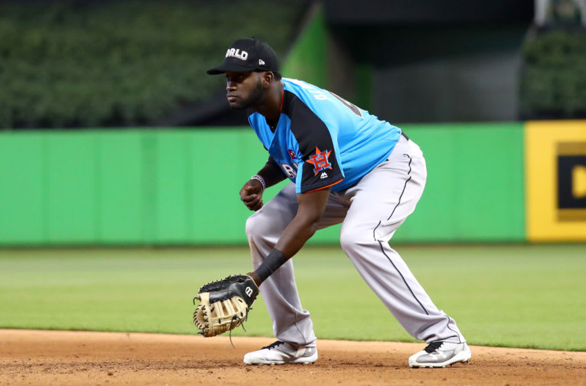 Yordan Alvarez of the Houston Astros (Photo by Alex Trautwig/MLB Photos via Getty Images)