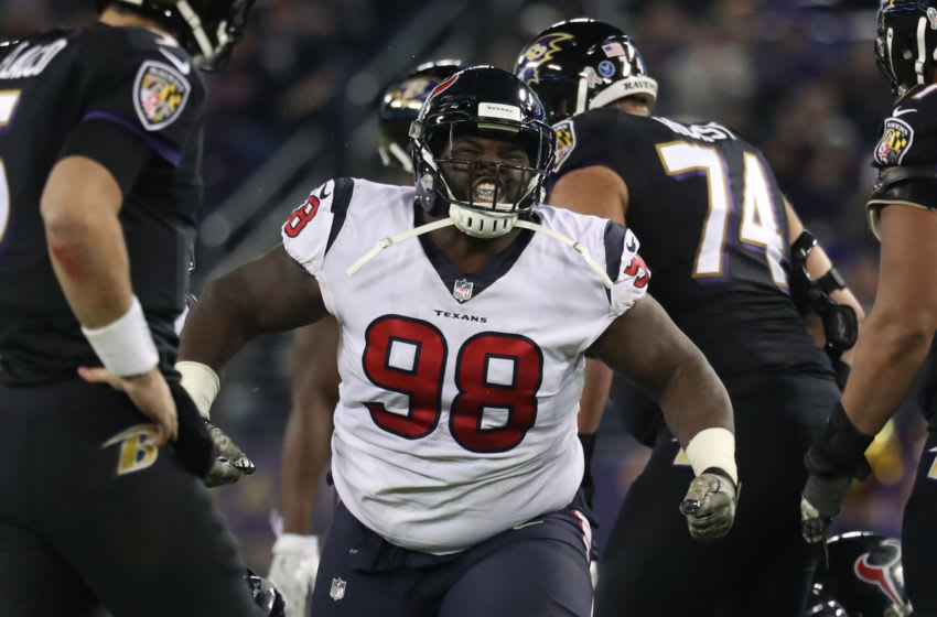 Nose Tackle D.J. Reader of the Houston Texans (Photo by Rob Carr/Getty Images)