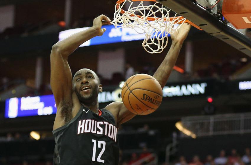 Houston Rockets swingman Luc Mbah a Moute (Photo by Bob Levey/Getty Images)