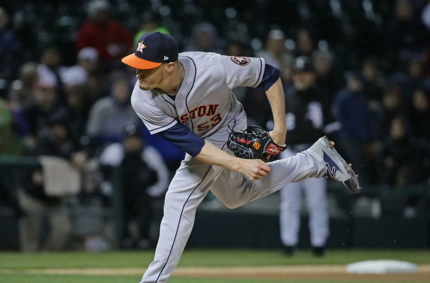 CHICAGO, IL - APRIL 20: Ken Giles #53 of the Houston Astros pitches in the 9th inning against the Chicago White Sox at Guaranteed Rate Field on April 20, 2018 in Chicago, Illinois.The Astros defeated the White Sox 10-0. (Photo by Jonathan Daniel/Getty Images)