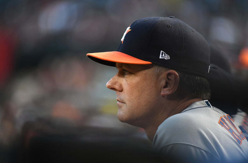 AJ Hinch of the Houston Astros (Photo by Norm Hall/Getty Images)