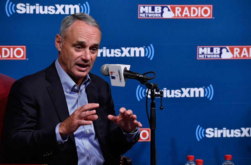 MLB Commissioner Rob Manfred, who oversees the Houston Astros (Photo by Larry French/Getty Images for SiriusXM)