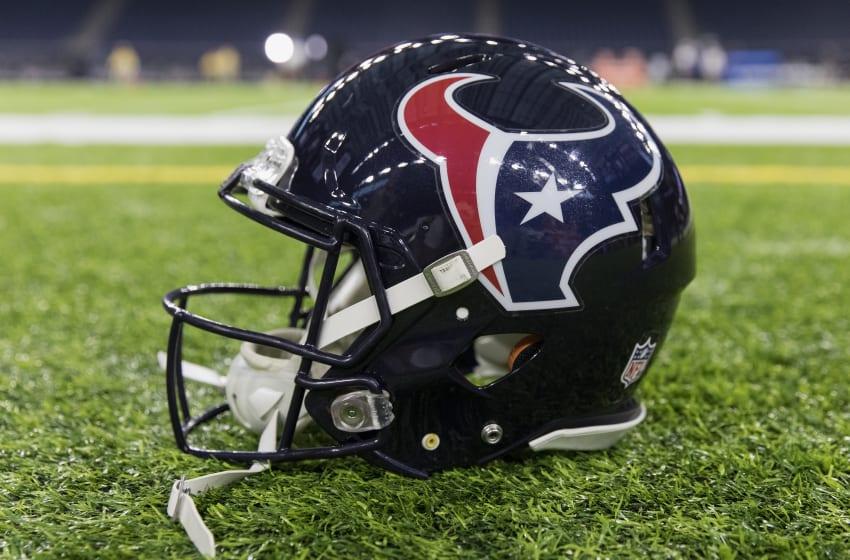 HOUSTON, TX - DECEMBER 24: A Houston Texans helmet (Photo by Tim Warner/Getty Images)
